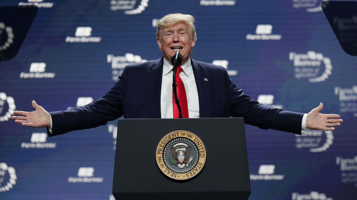 Donald Trump, Präsident der USA, spricht auf der Tagung der American Farm Bureau Federation.