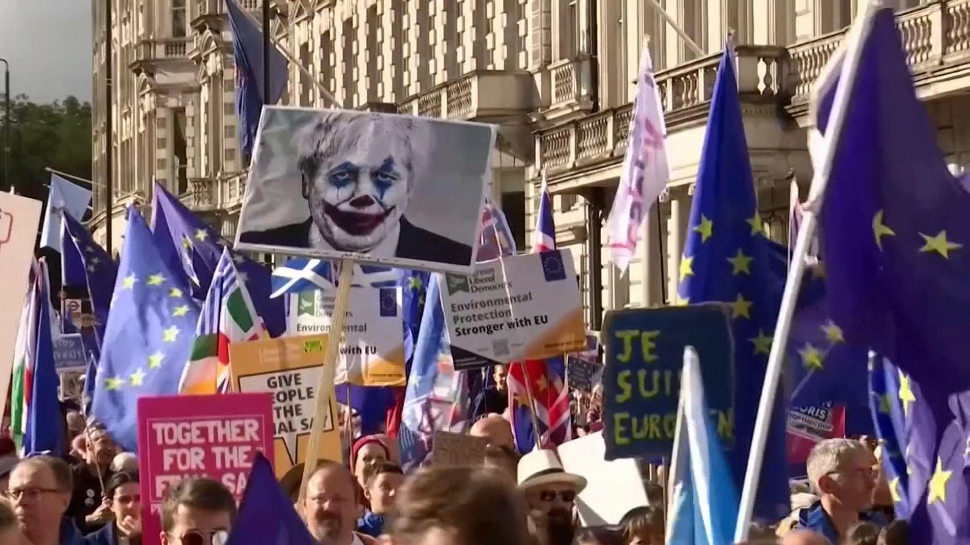 Riesige Anti-Brexit-Demonstration in London