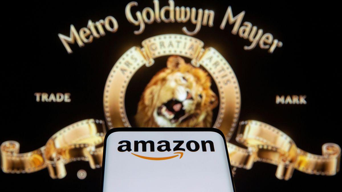 Bildmontage: MGM-Löwe und Amazon