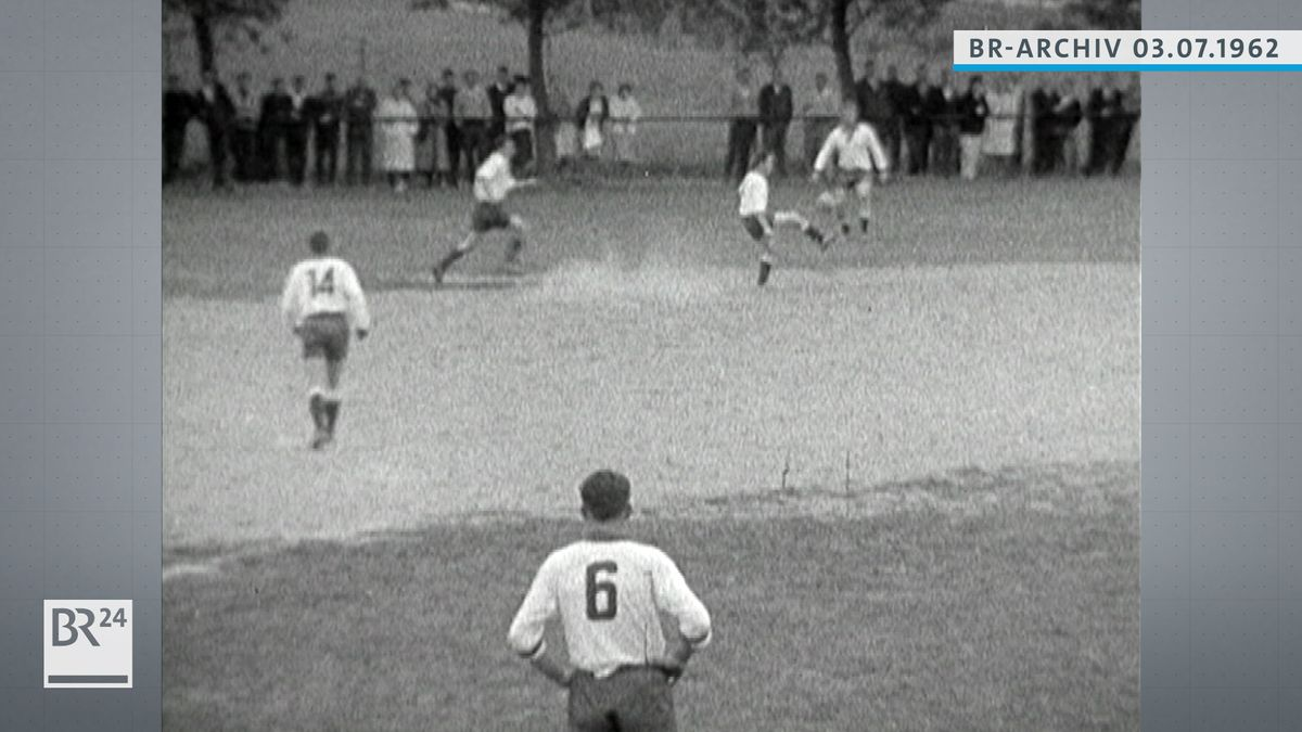 Fußballer beim Spiel