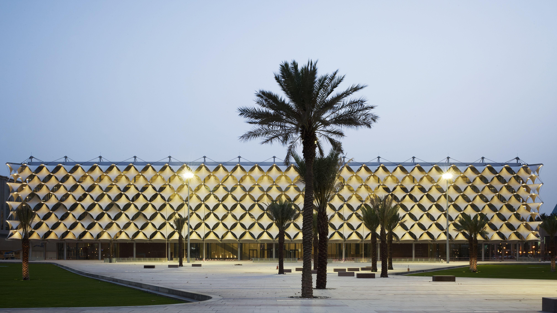 Nationalbibliothek in Riad, eine Synthese abendländischer und orientalischer Baukunst