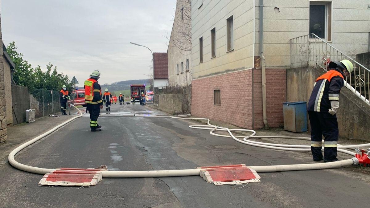 Bewohner durch Feuer in Wohnhaus in Krautheim verletzt