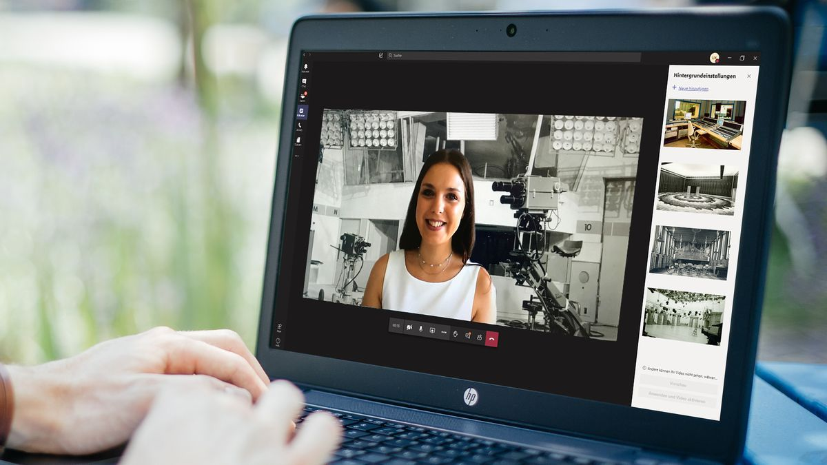 Beispiel für ein BR-Hintergrundbild für Videokonferenzen