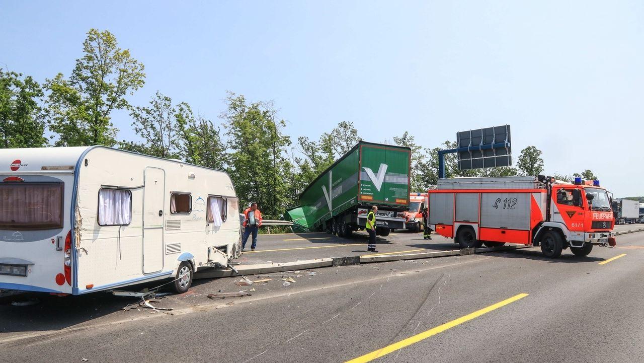 Unfallstelle auf der A3 bei Würzburg