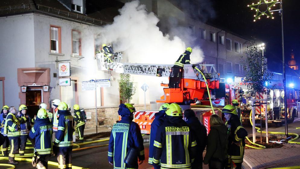 Wohnhausbrand in Stockstadt am Main | Bild:Ralf Hettler
