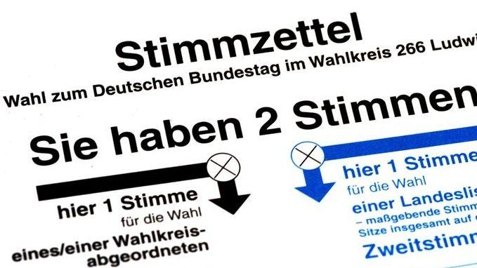 Bundestagswahl: Der Stimmzettel