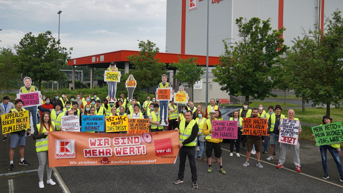 Streik bei Kaufland in Donnersdorf