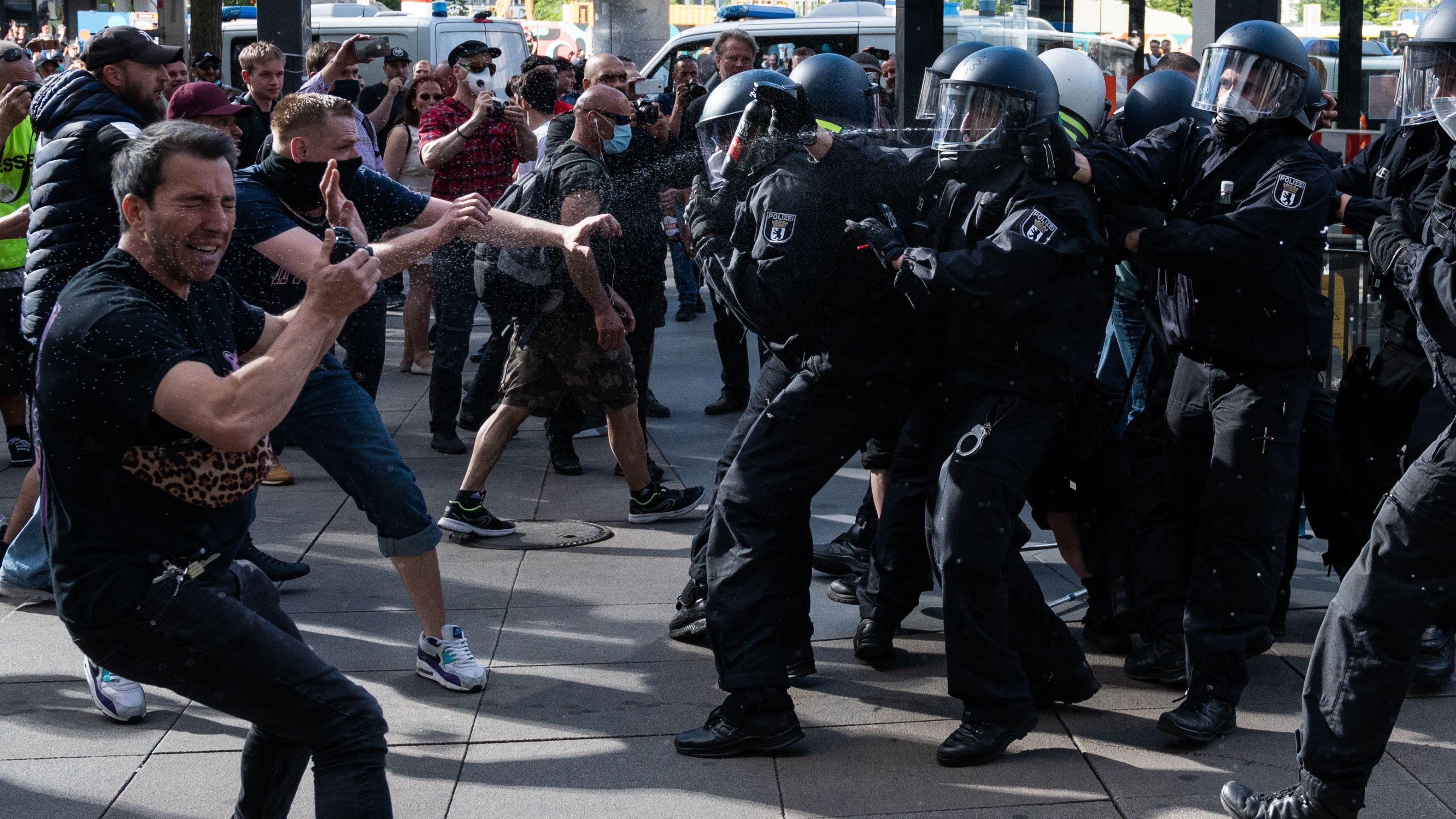 Berliner Corona-Kundgebung