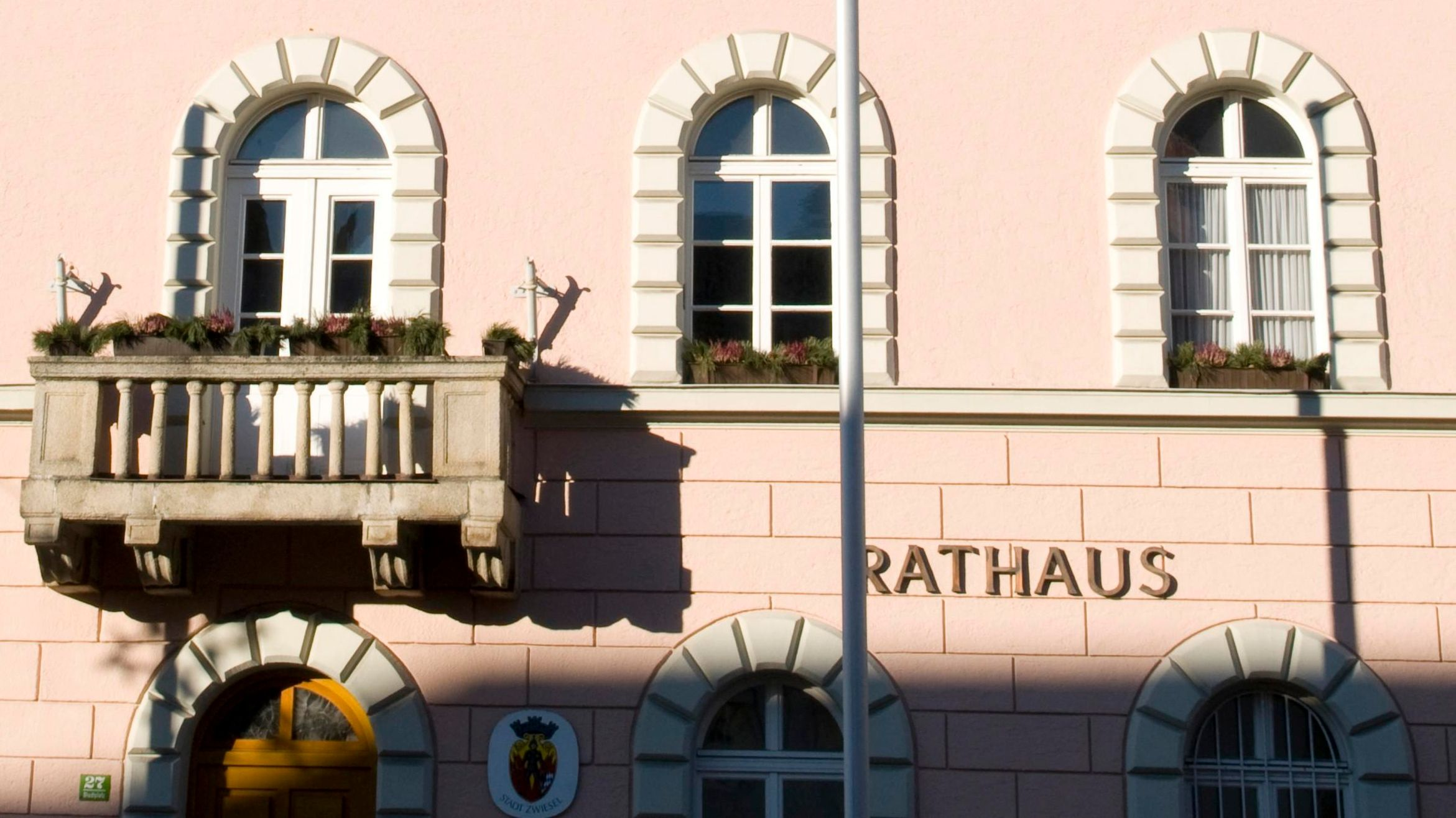 Das Rathaus von Zwiesel im Bayerischen Wald