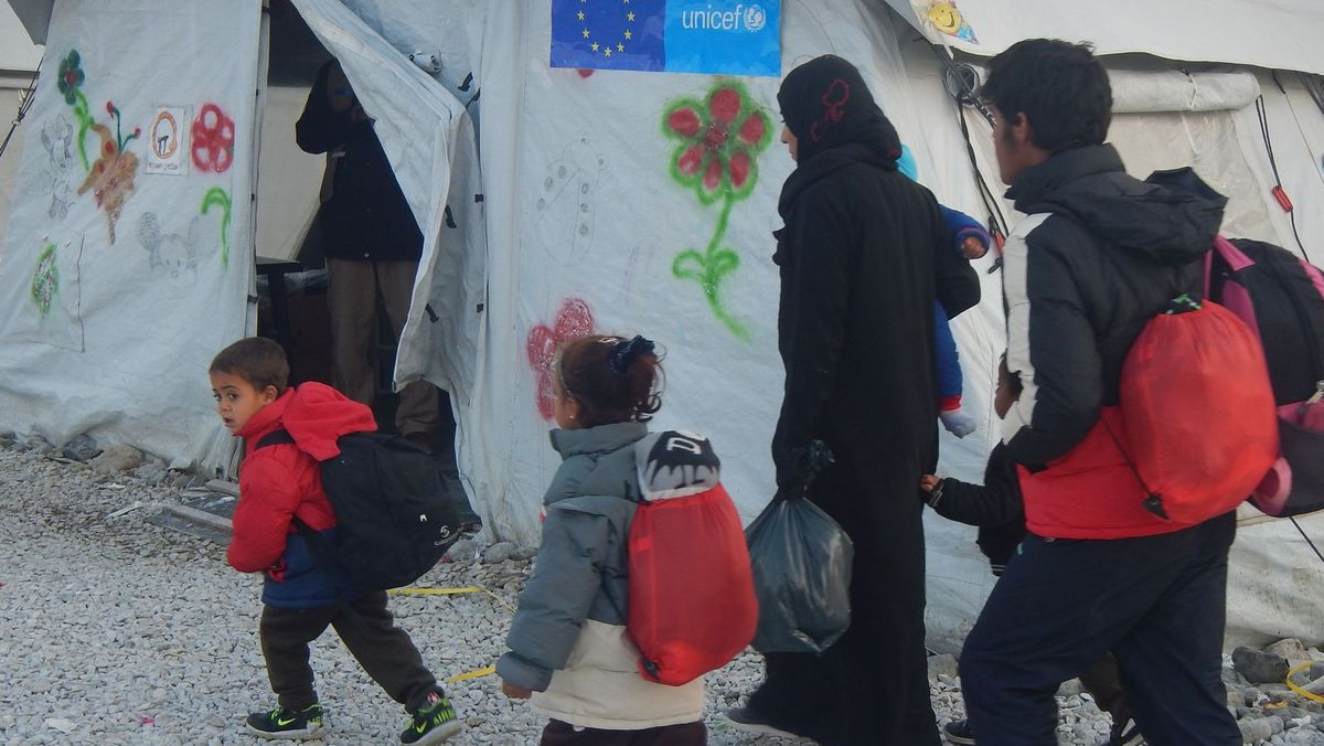 Dezember 2015, Nordmazedonien, Gevgelija, Transitlager Vinojug.