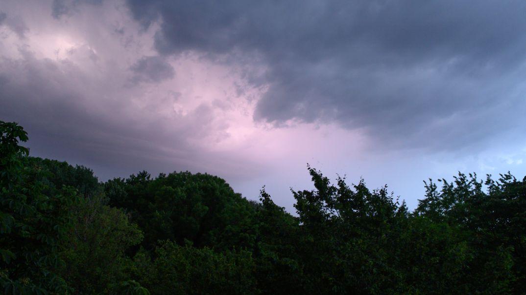 Gewitterwolken über München