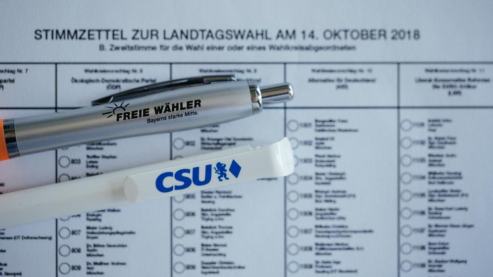 Freie Wähler und CSU verhandeln über eine Koalition | Bild:BR/Julia Müller