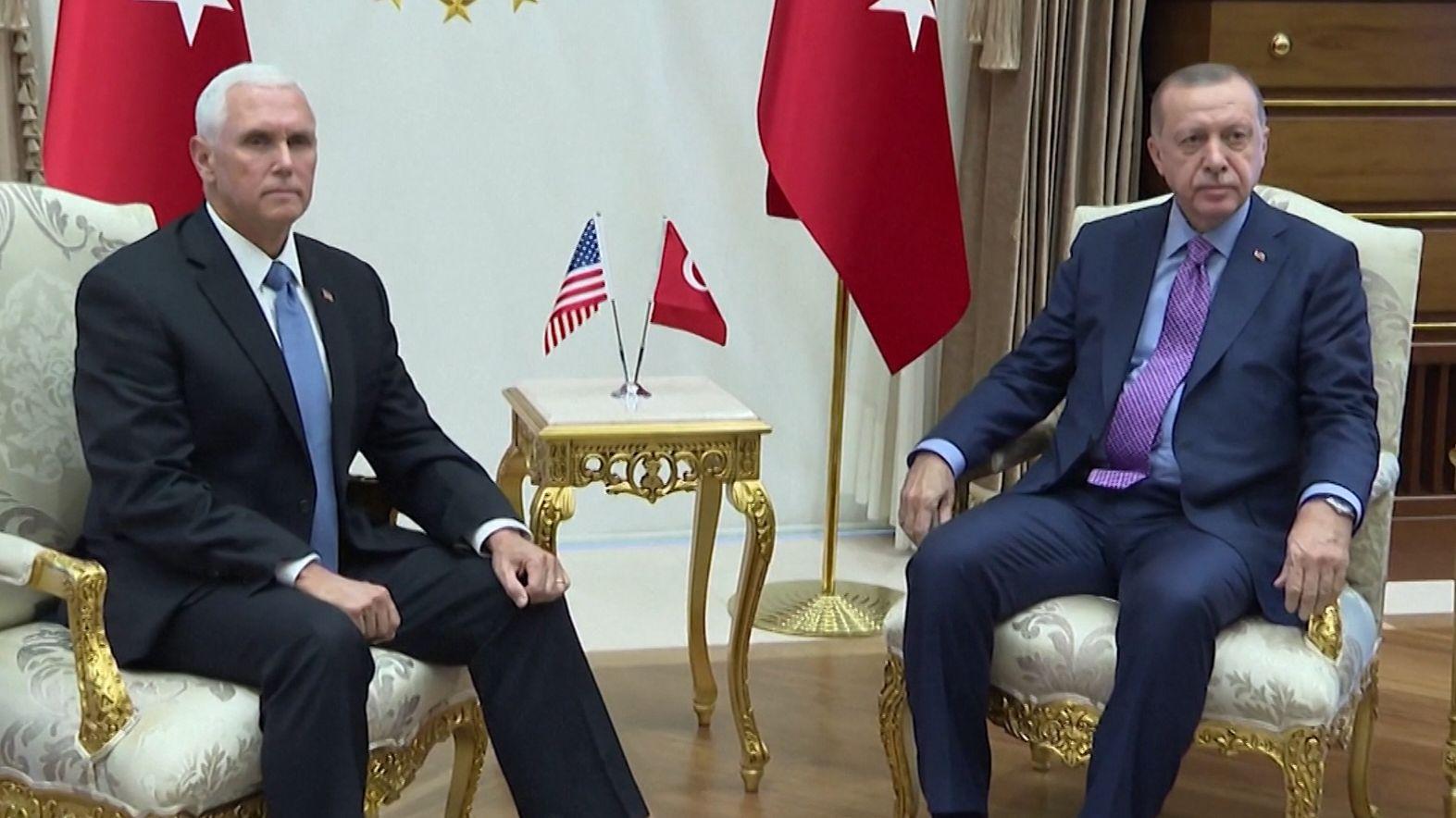 US-Vizepräsident Mike Pence und der türkische Präsident Recep Tayyip Erdogan
