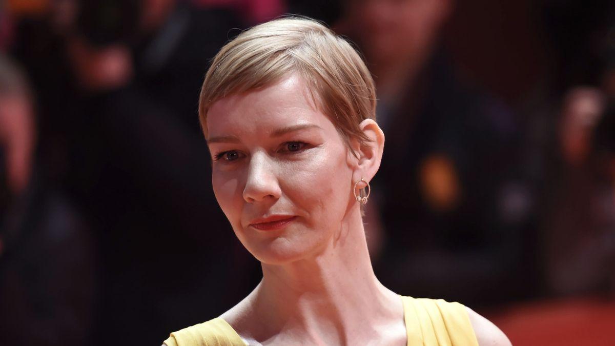 Porträt der Schauspielerin Sandra Hüller, aufgenommen auf der Berlinale 2019