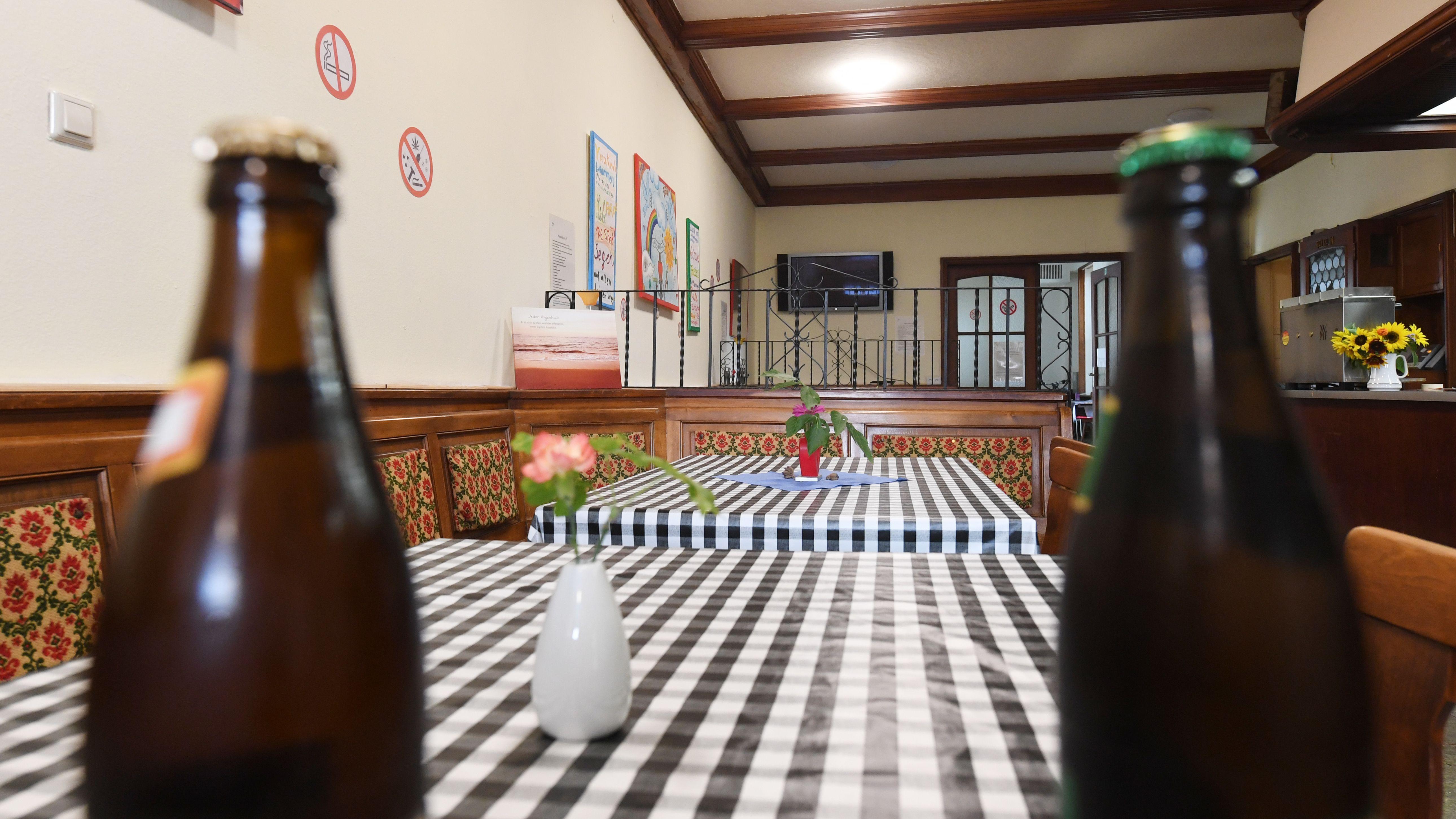 Blick in eine Gaststätte