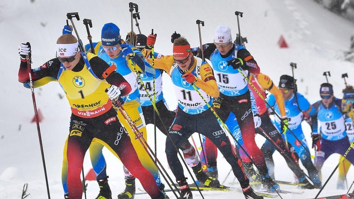 Biathlon-Weltcup in Oberhof: Massenstart der Männer