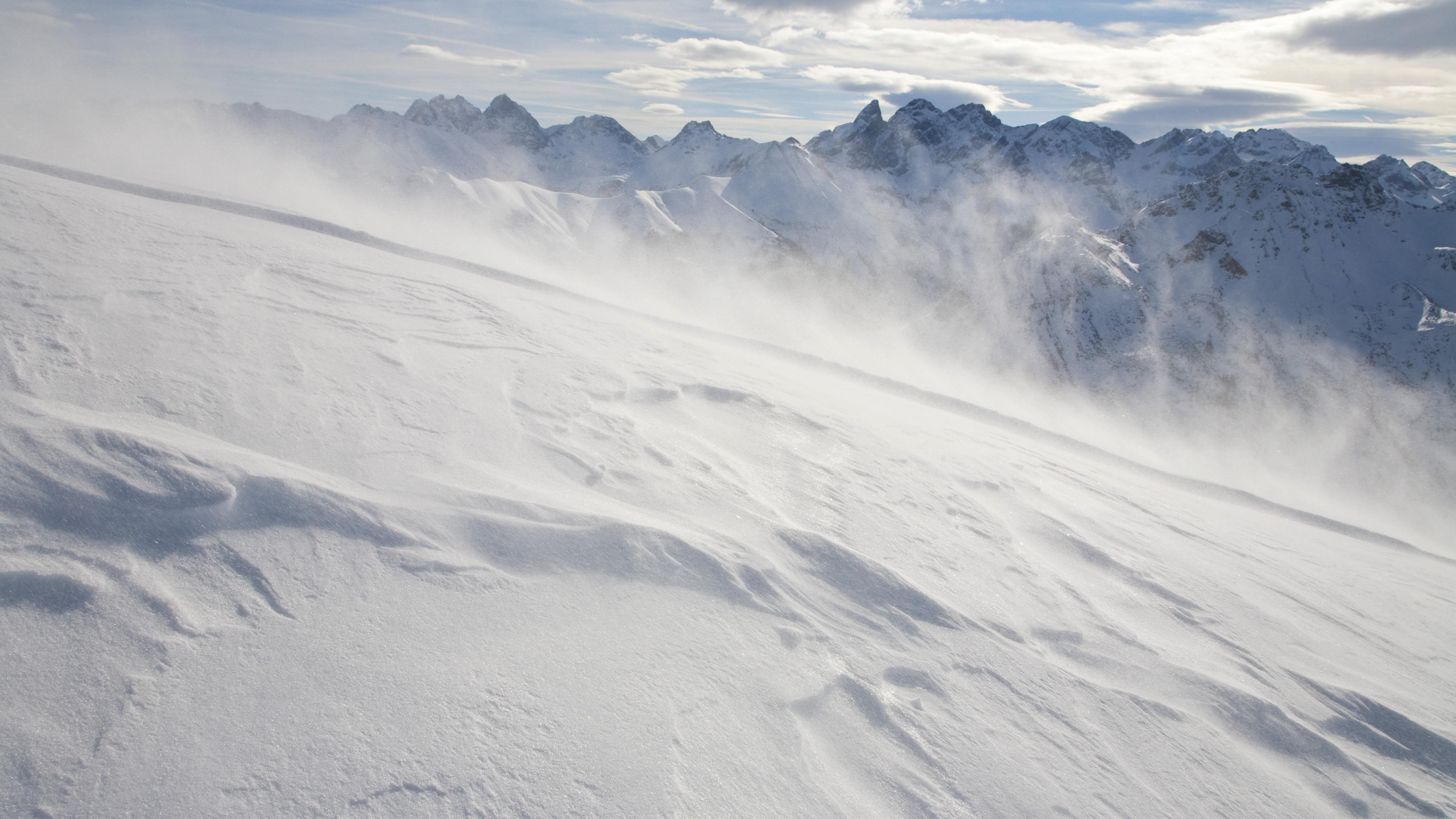Schneesturm auf dem Fellhorn, Allgäuer Alpen (Archiv)