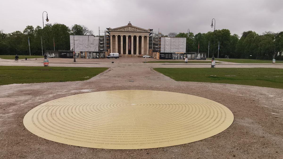 Denkmal für die Bücherverbrennung am Königsplatz in München.