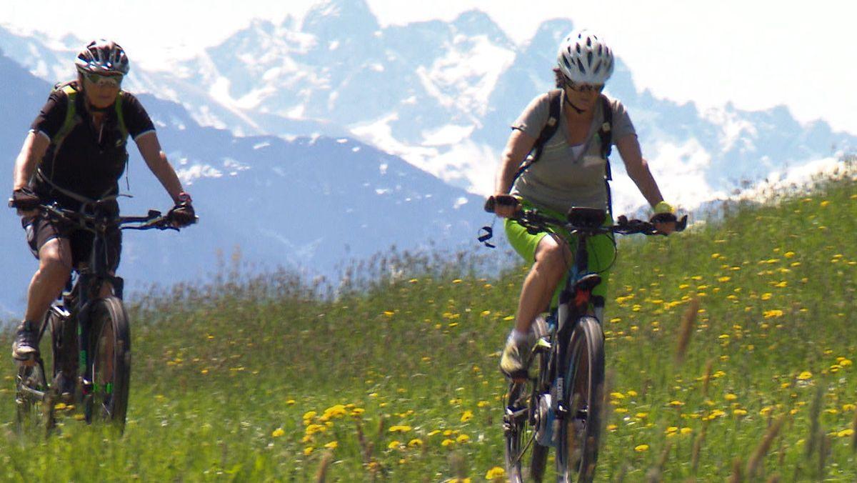 Biker am Berg