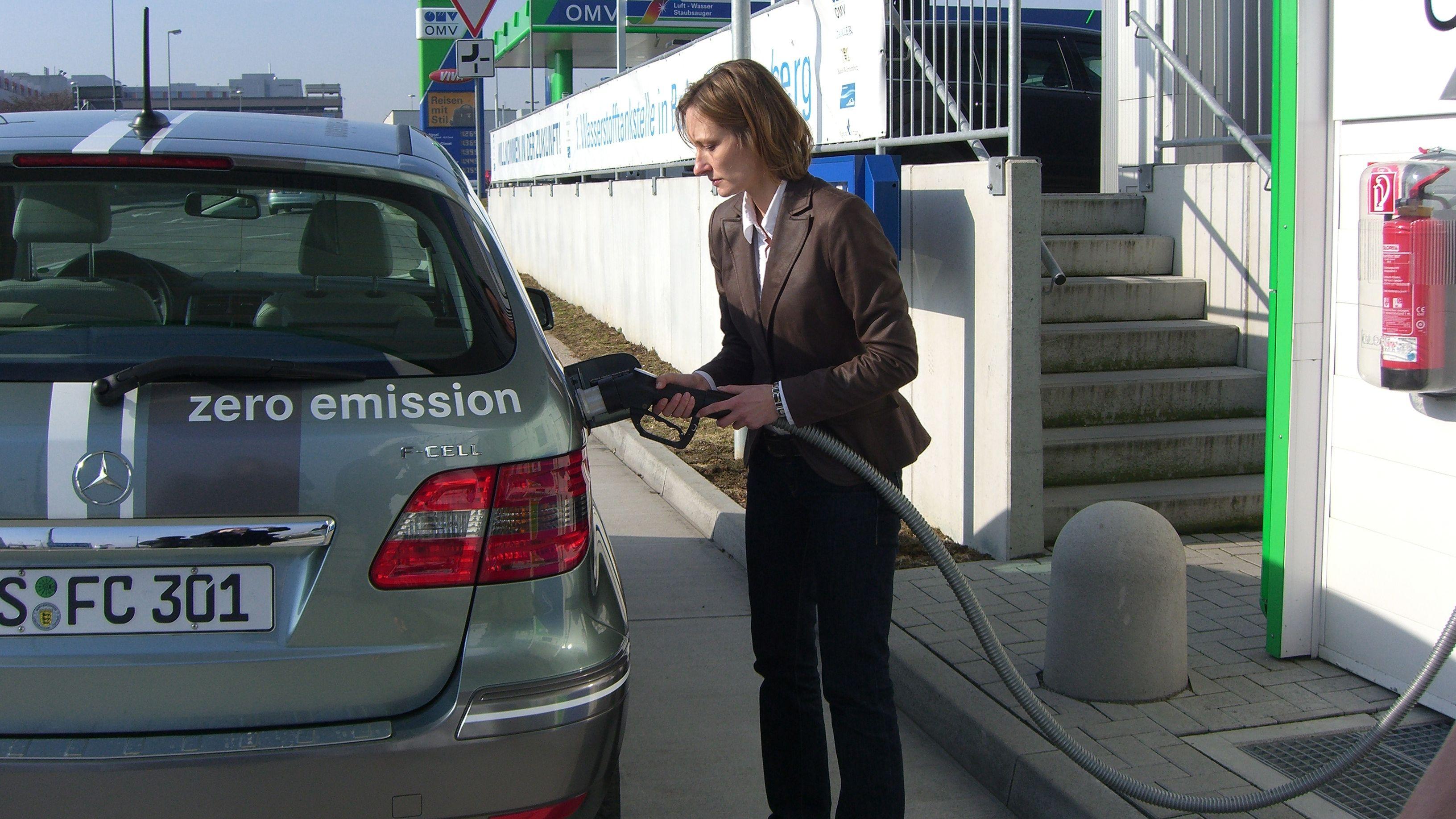 Symbolbild Wasserstoffauto
