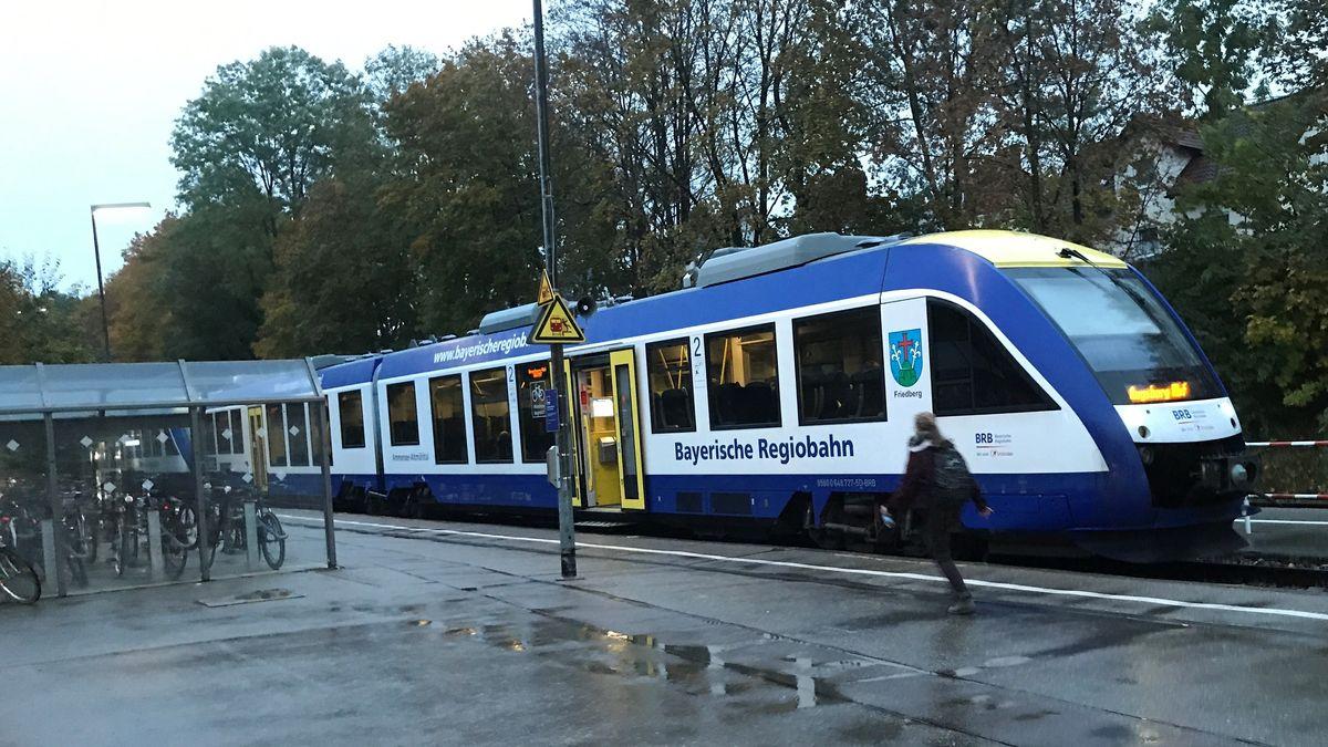 Die Paartalbahn am Friedberger Bahnhof