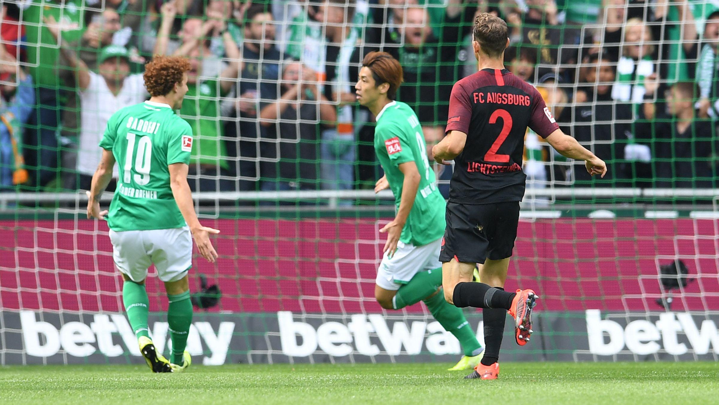 Spielszene Bremen - Augsburg