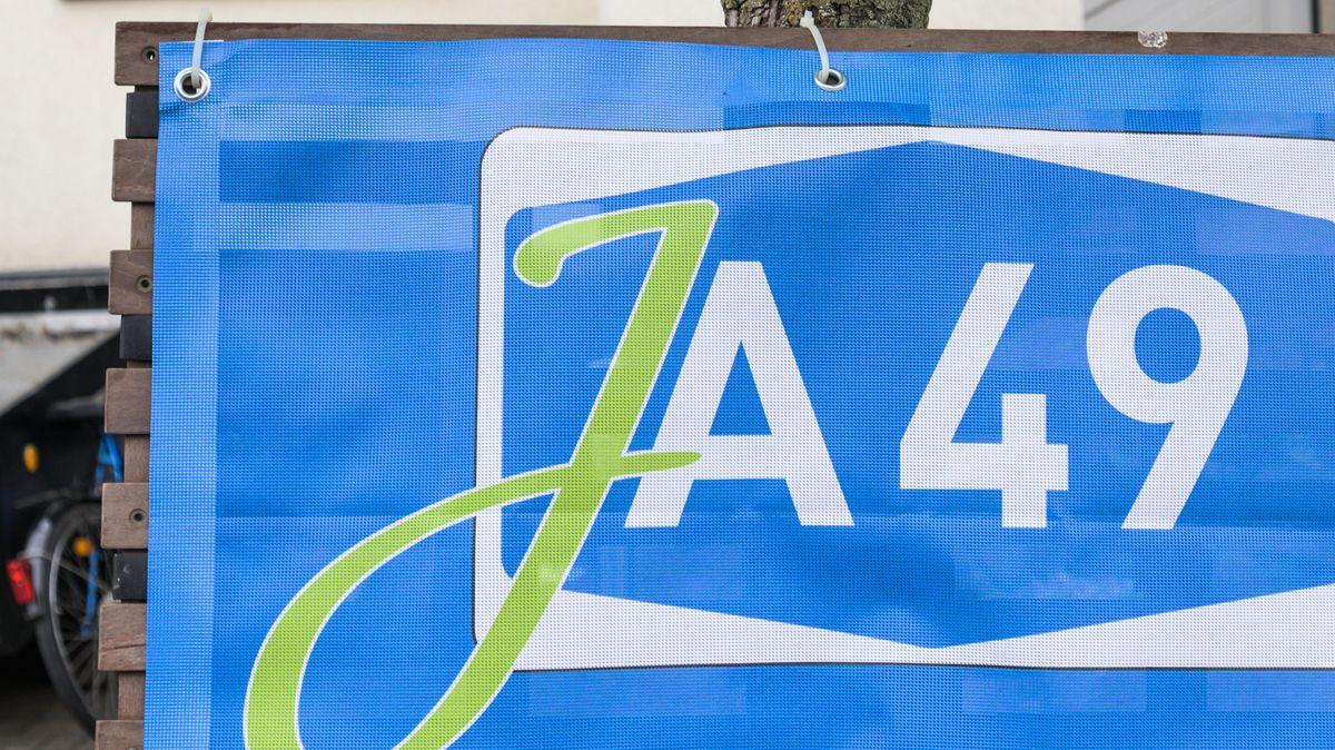 Plakat für die  A 49