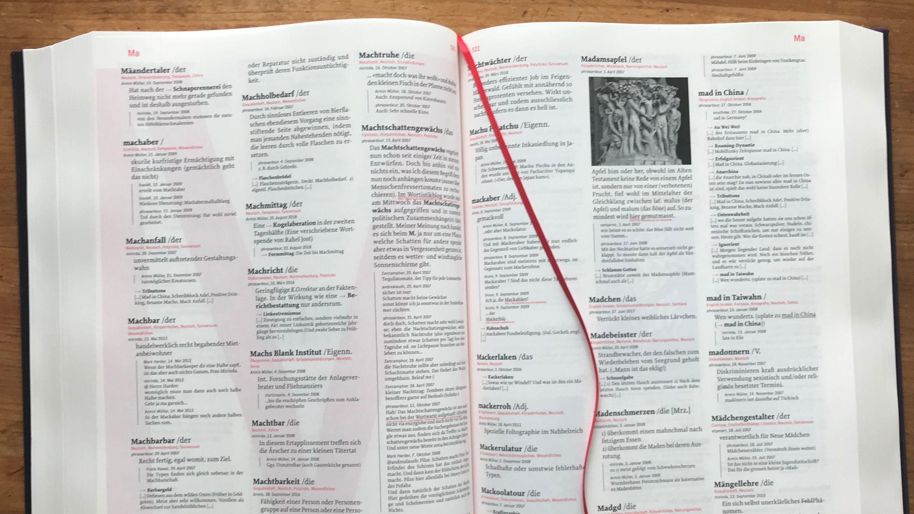 Foto einer Buchseite