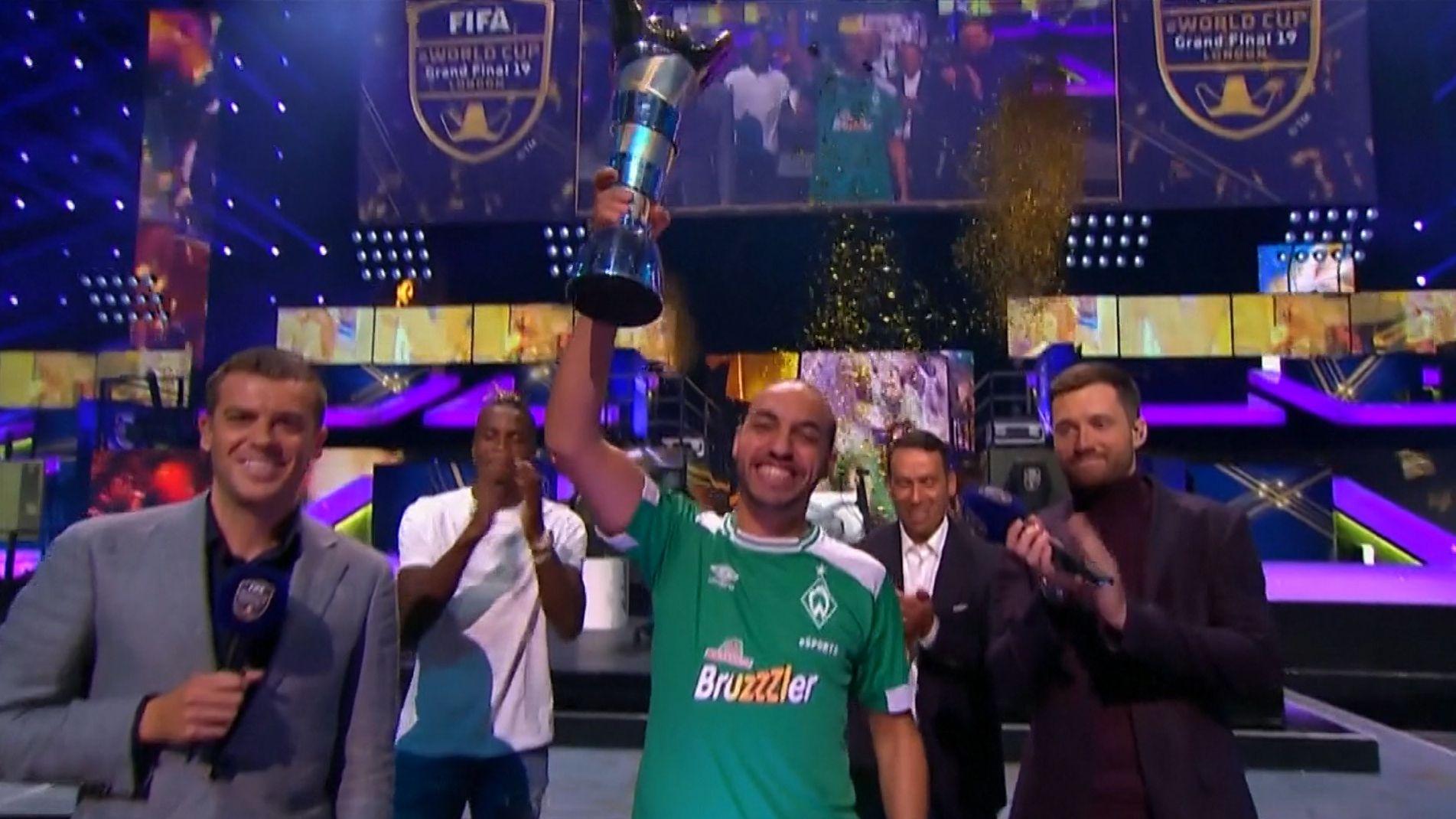 Mohammed Harkous feiert seinen Sieg