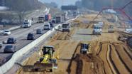 Autobahnbaustelle zwischen Augsburg und Ulm | Bild:picture-alliance/dpa