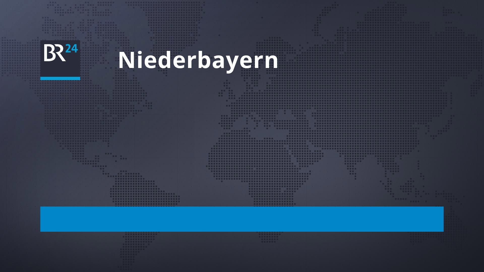Symbolbild BR24 Niederbayern mit schwarzer Weltkarte im Hintergrund und Text Niederbayern
