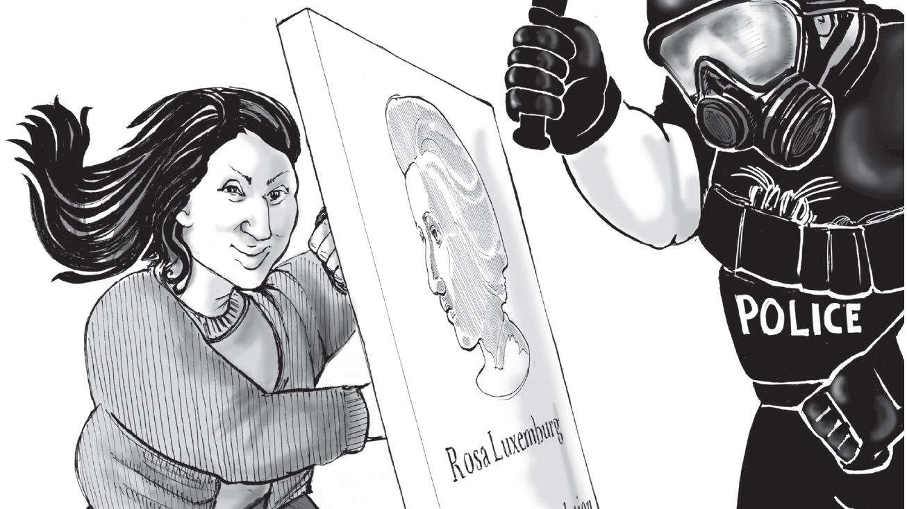 """Illustration von Kate Evans aus ihrer Graphic Novel """"Rosa"""""""