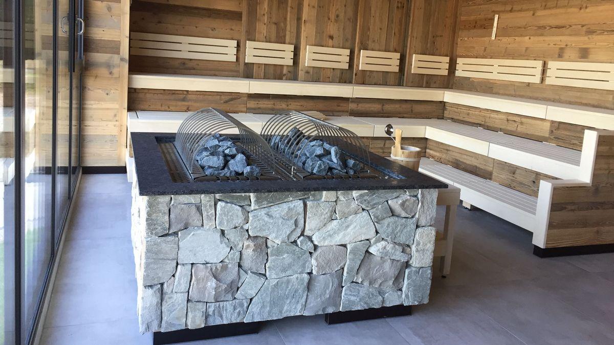 Die Sauna mit Panoramafenster