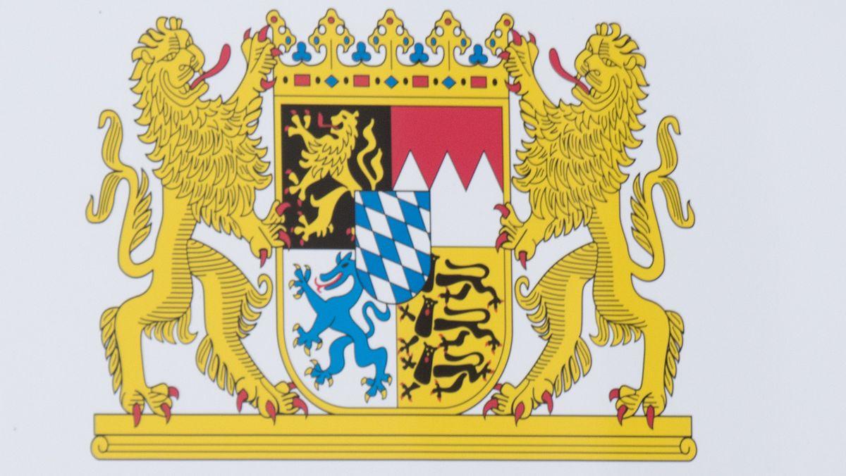 Das bayerische Staatswappen