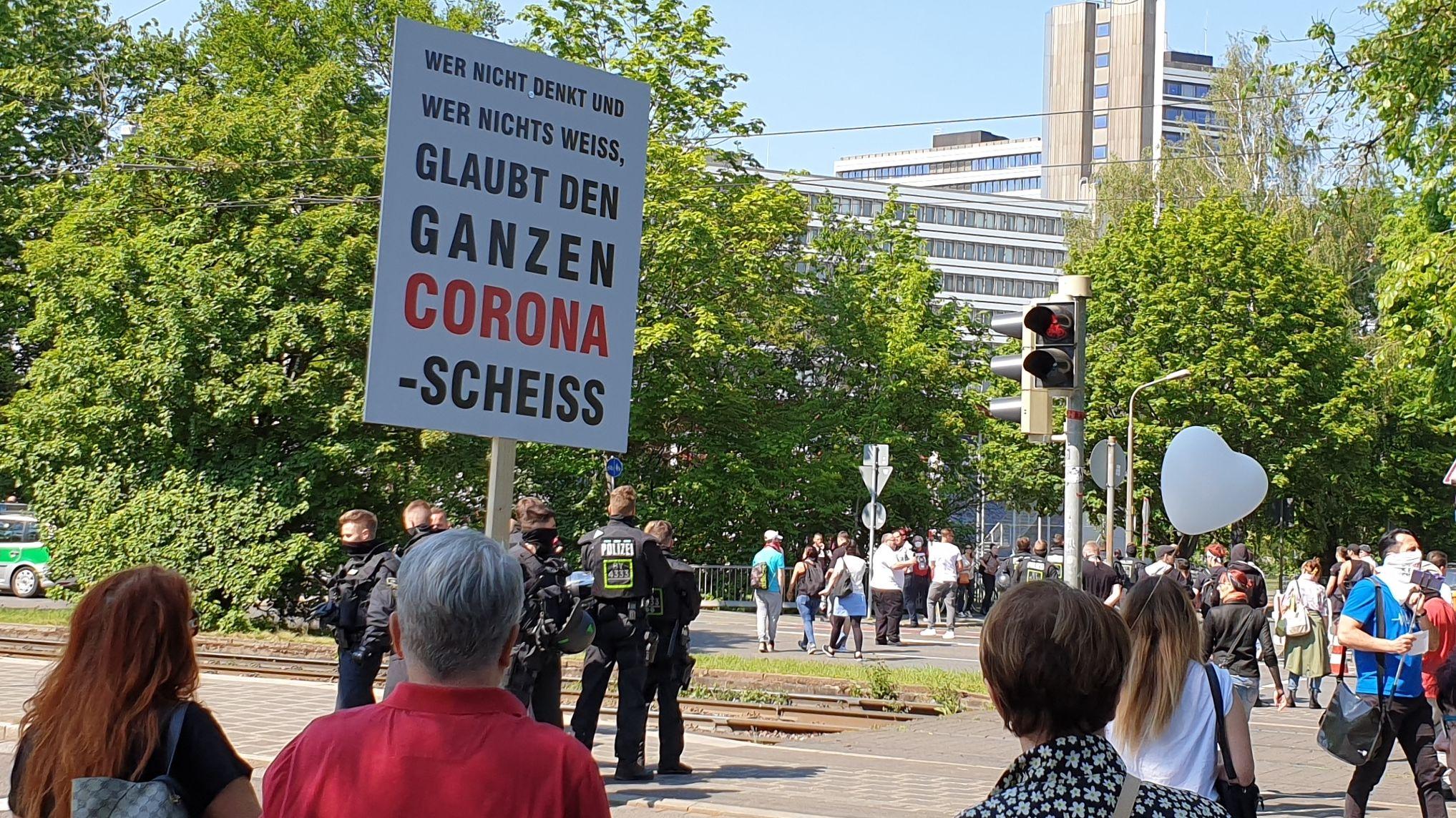 Corona-Rebellen in Nürnberg