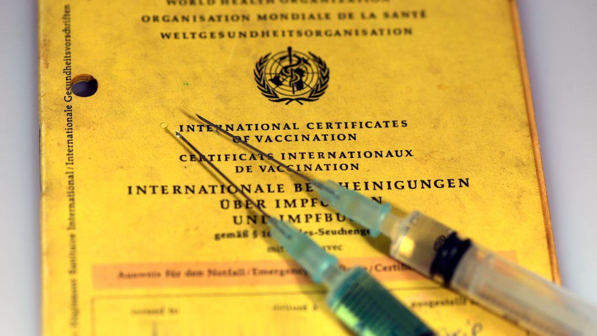 Ein Impfpass mit zwei Spritzen (Symbolbild)