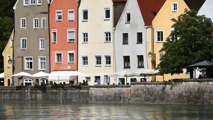 Altstadthäuser in Landsberg am Lech