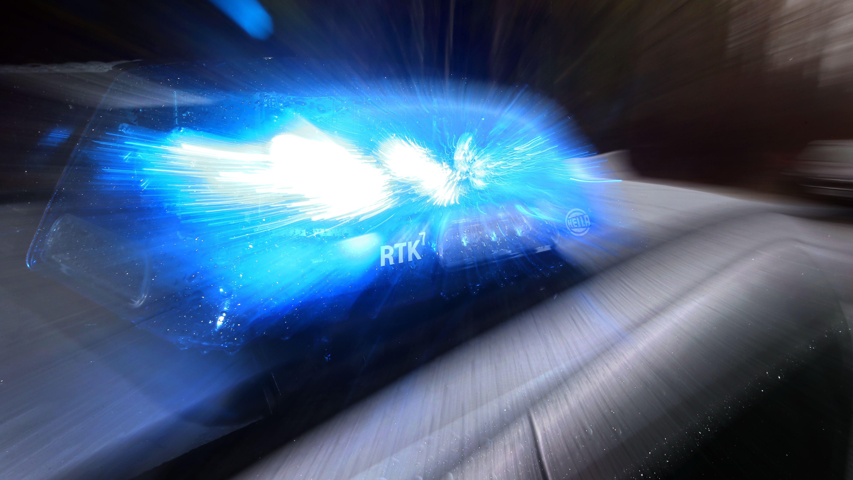 Blaulicht auf einem Streifenwagen der Polizei im Allgäu (Archiv)