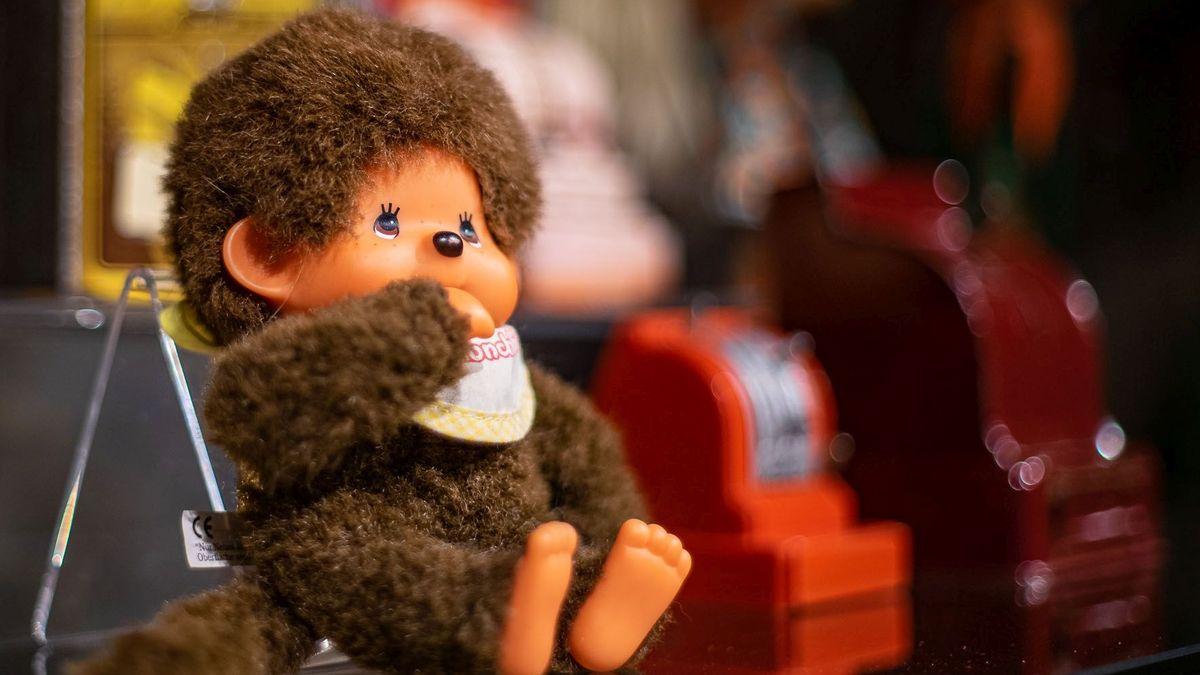 Ein beliebtes Kinderspielzeug der 1980er Jahre: ein Monchhichi