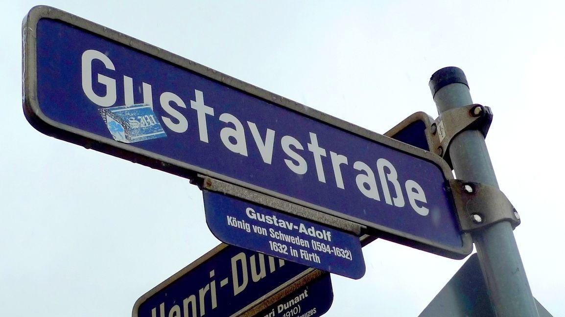Gustavstraße Schild in Fürth