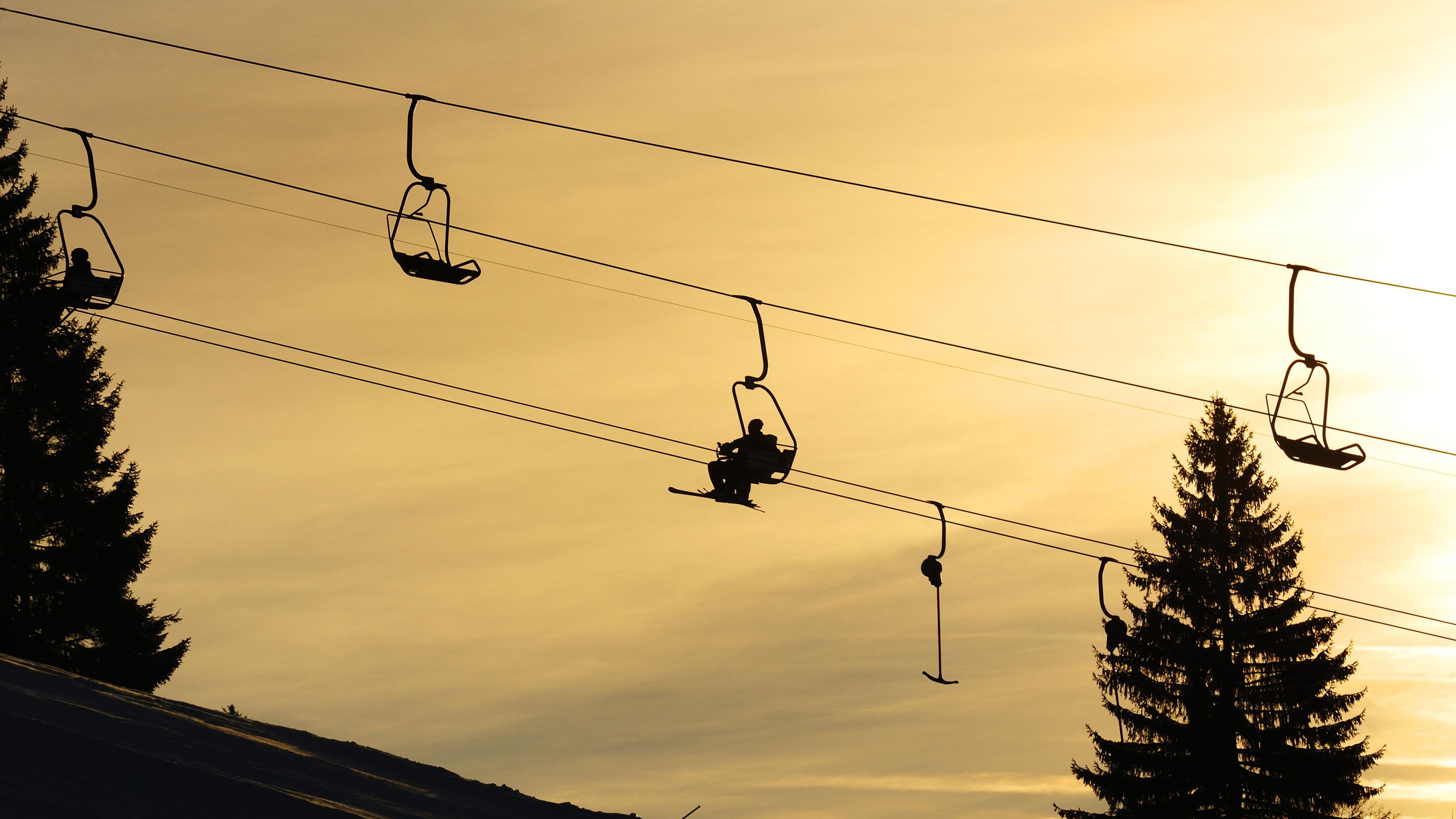 Liftanlagen im Skigebiet Grünten