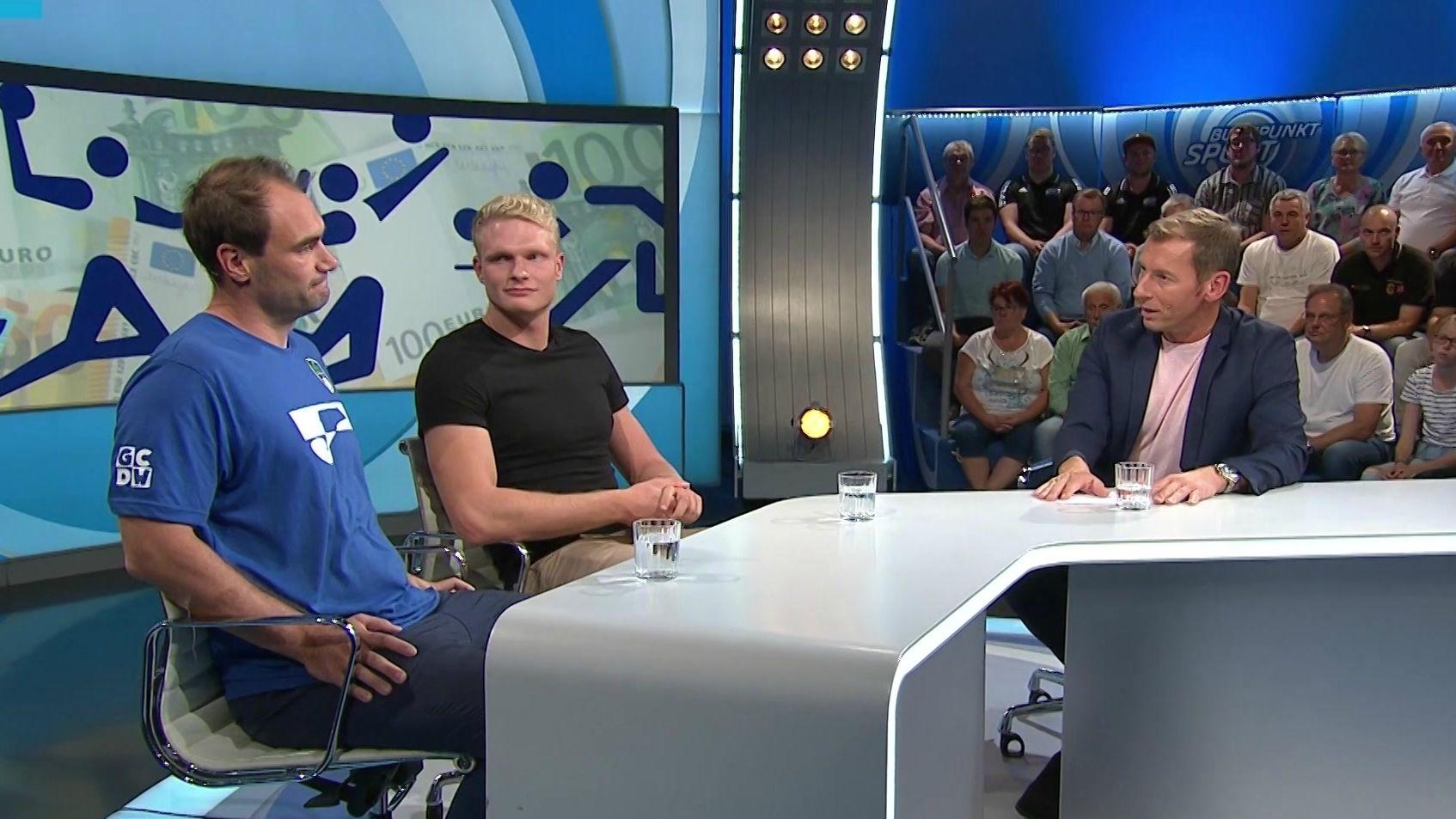 Ruderweltmeister Oliver Zeidler und Volleyball-Bundesligatrainer Max Hauser