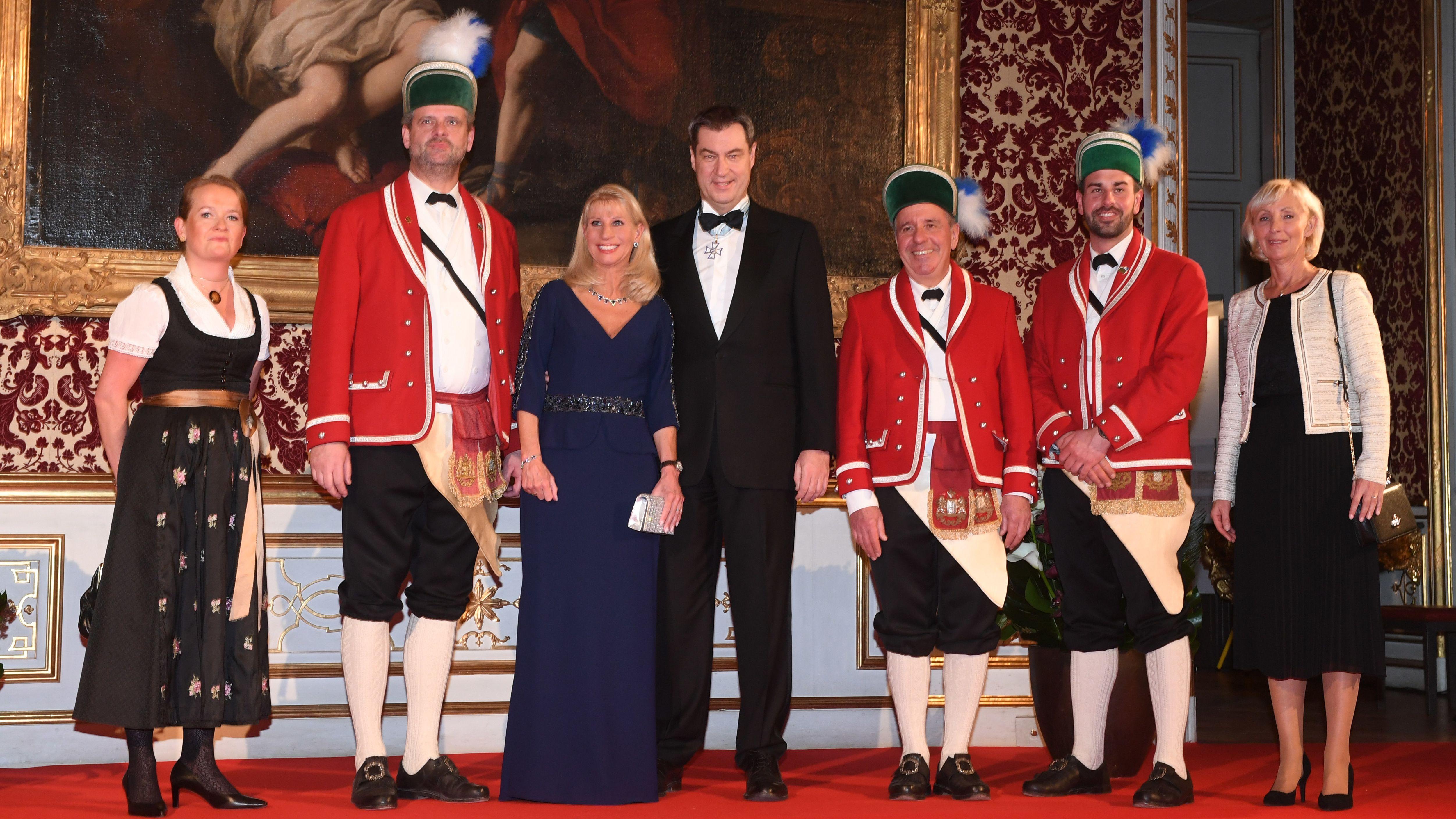Ministerpräsident Markus Söder beim Neujahrsempfang 2020 in der Residenz München