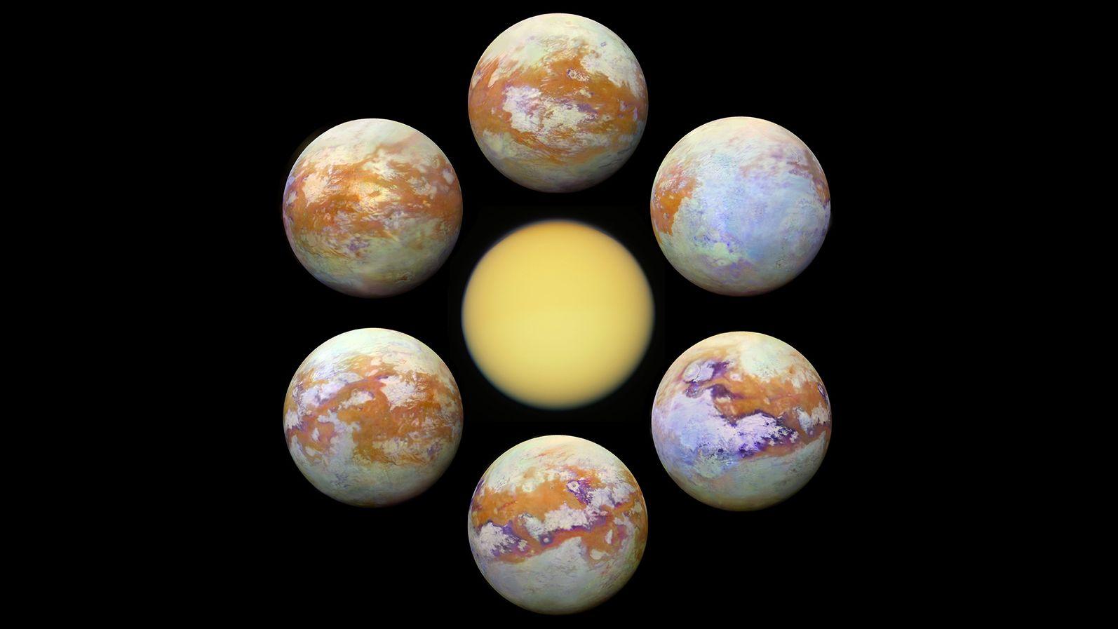Unter seiner dichten Atmosphäre verbirgt der Saturnmond Titan eine faszinierende Landschaft, in der Flüsse und Seen aus Methan und anderen Kohlenwasserstoffen vorkommen