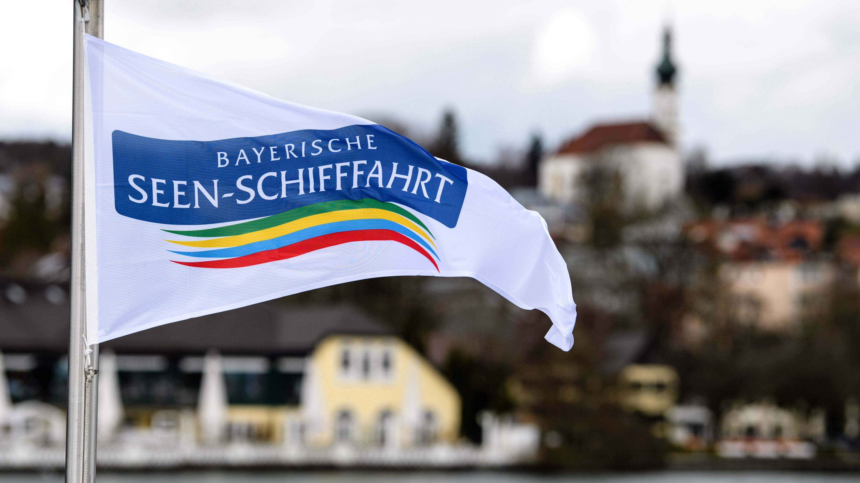 Fahne der Bayerischen Seenschifffahrt in Starnberg