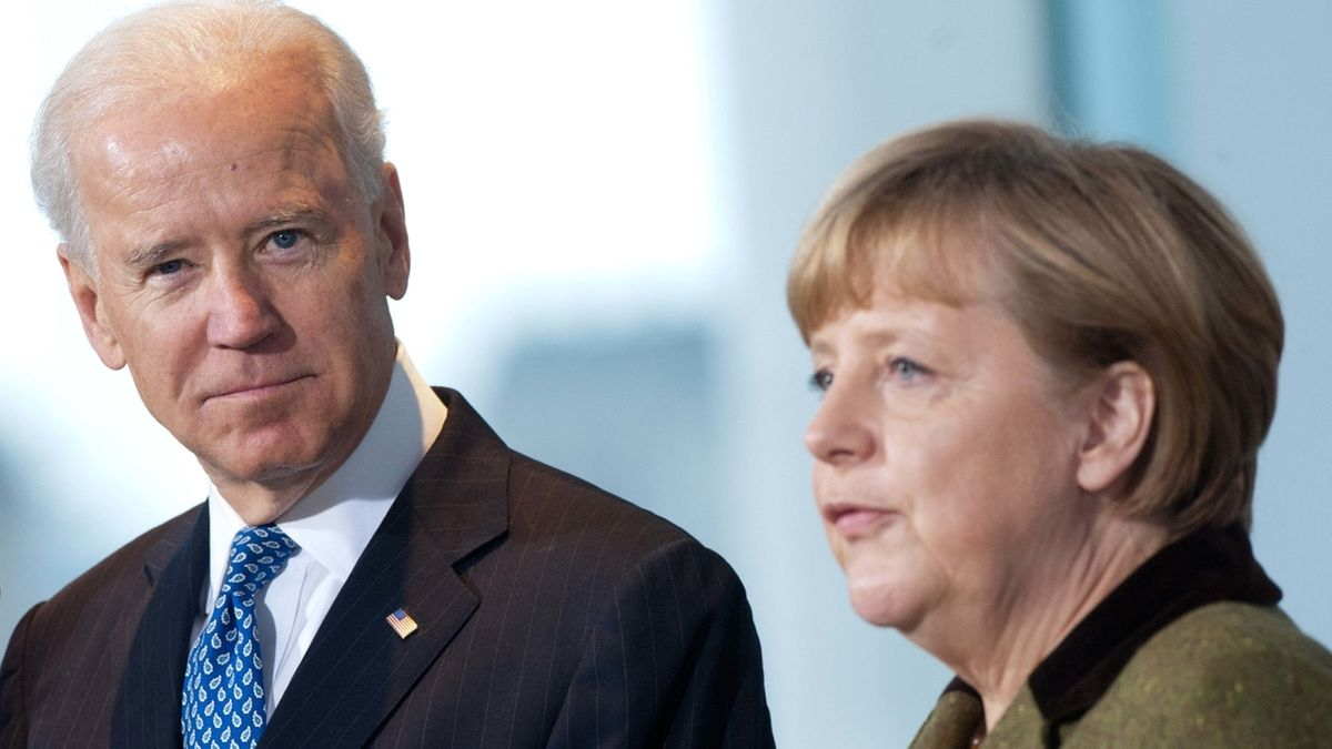 Joe Biden bei Bundeskanzlerin Merkel - 2013.