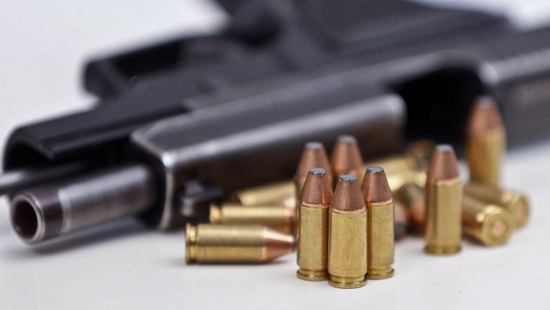Eine Pistole vom Typ SIG Sauer P226 in Kaliber 9mm Para mit Magazin und Munition