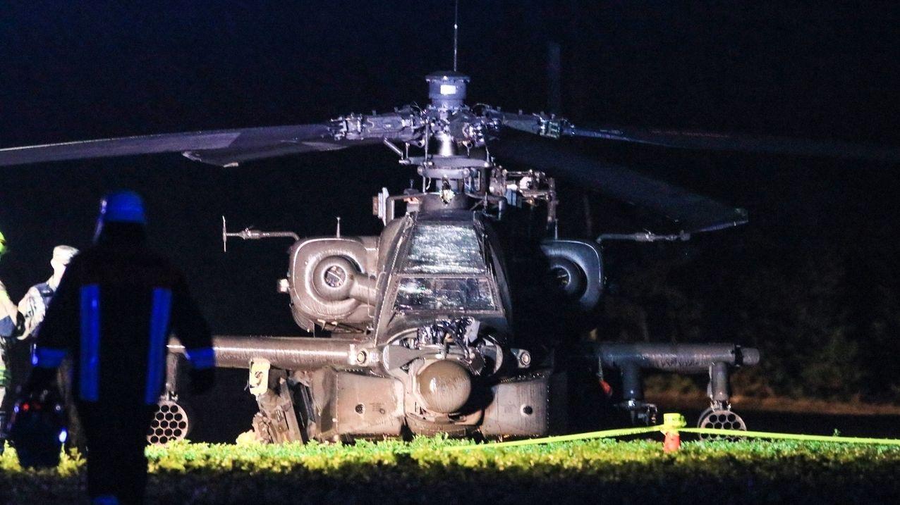 Apache-Kampfhubschrauber kappt Stromleitung