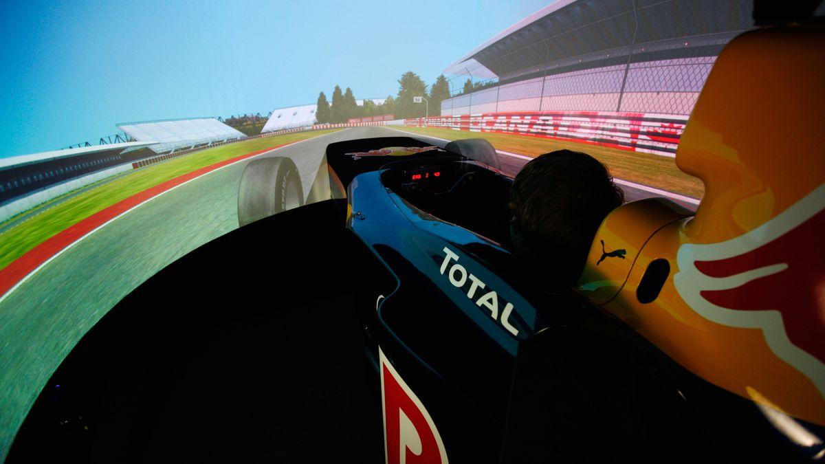 Formel 1 Fahrsimulater (Symbolbild)
