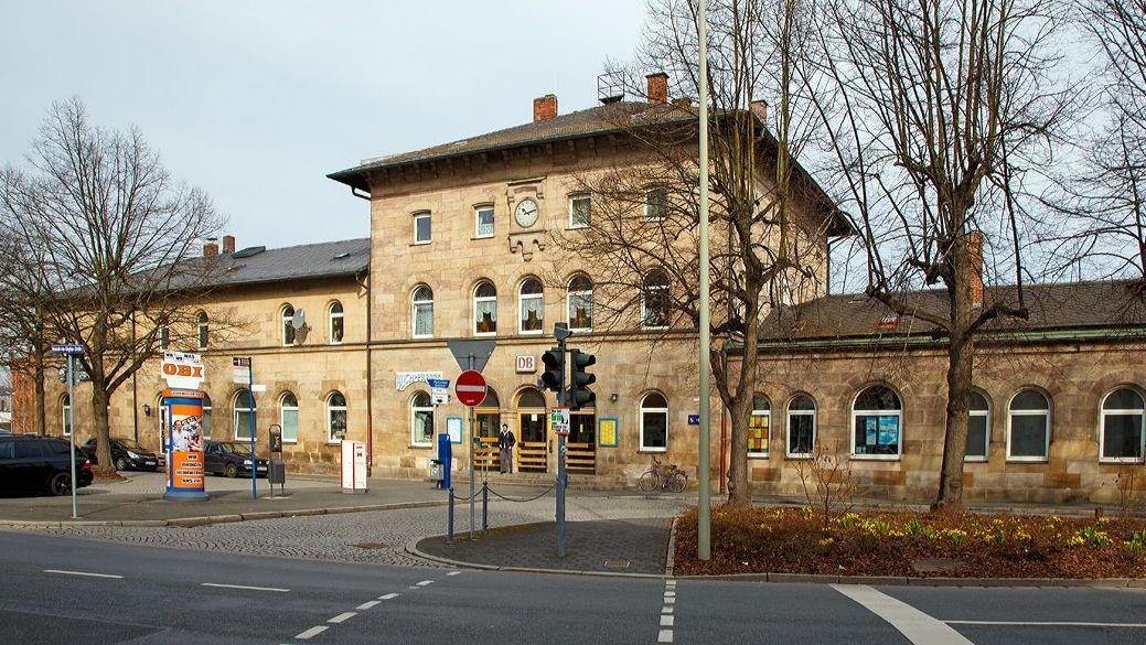 Der Bahnhof in Kulmbach